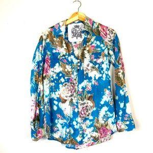 Vintage Floral JAK Blouse M